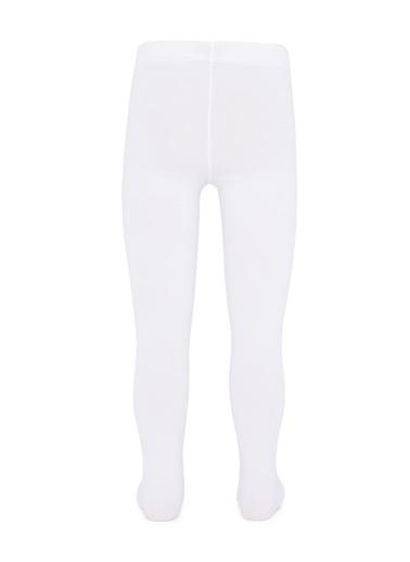 Katia & Bony Donatı Çocuk Basic Külotlu Çorap - Turkuaz Beyaz
